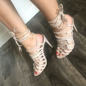 Cutest lace up heels!